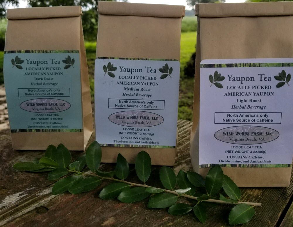 Yaupon available in light, medium, and dark roast.